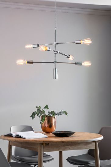 Ruby Chrome 6 Pendant Light by Gallery Direct