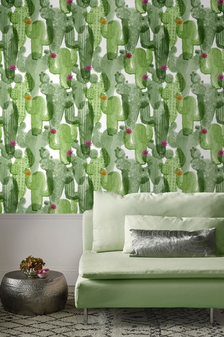Superfresco Easy Nopalito Green Wallpaper by Art For The Home