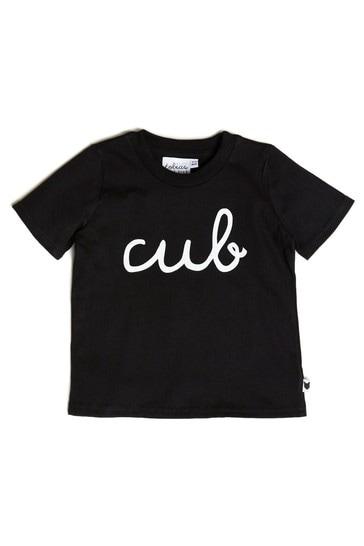 Tobias & The Bear Black Cub Organic Cotton T-Shirt