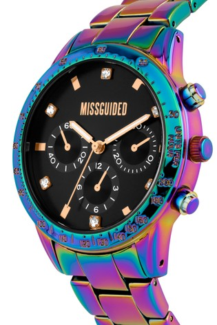Missguided Iridescent Bracelet Watch