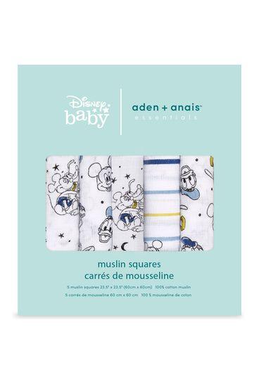 aden + anais Essentials Muslin Disney Mickey Stargazer Squares 5 Pack