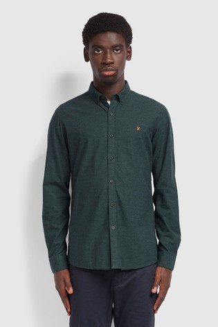 Farah Green Steen Slim Shirt