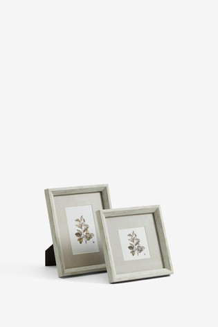 Wood Effect Botanical Frame