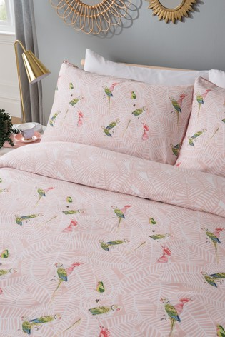Yvonne Ellen Tropical Parrots Duvet Cover And Pillowcase Set