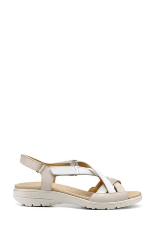Hotter Cream Lucy Touch Fastening Open Sandals