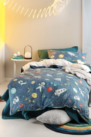Space Race Duvet Cover and Pillowcase Set by Linen House Kids