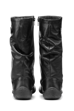 Hotter Derrymore Extra Wide Fit Zip Fastening Calf Boots