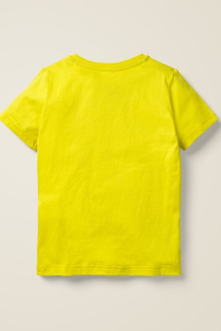 Mini Boden Yellow Sequin Sea Creatures T-Shirt