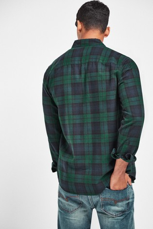 Blackwatch Regular Fit Check Brushed Long Sleeve Shirt