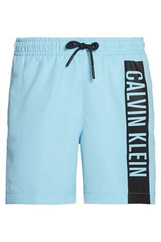 Calvin Klein Blue Intense Power Branded Medium Drawstring Trunks