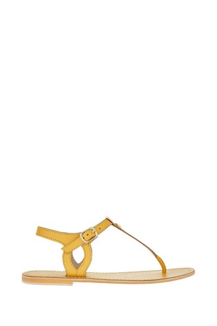 Accessorize Yellow Charm Detail Sandals