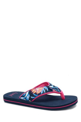 Animal Blue Swish Upper Print Flip Flops
