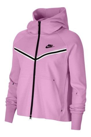 Nike Pink Tech Fleece Full Zip Hoody