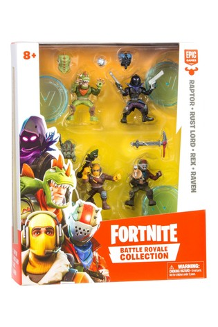 Fortnite Battle Royale Collection: Squad Pack, 4 Fortnite Battle Royale Collection Figures:  Raptor, Rust Lord, Rex, Raven