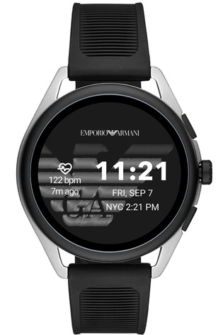 Emporio Armani Black Silicone Smartwatch