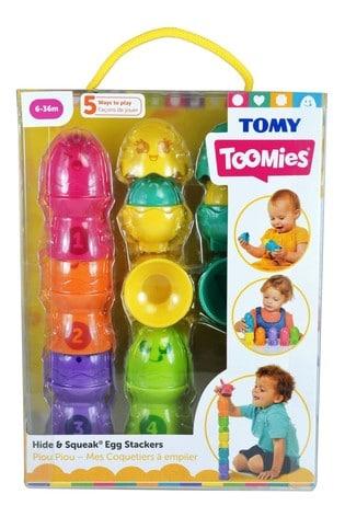 TOMY Toomies Hide & Squeak Egg Stackers