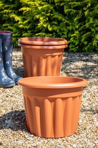 Set of 3 Wham Vista 40cm Plastic Round Planters