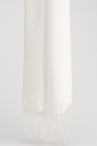 Phase Eight Cream Diamond Weave Scarf