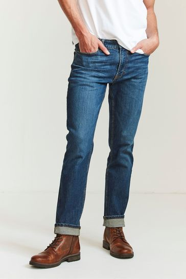 FatFace Denim Slim Mid Wash Jeans