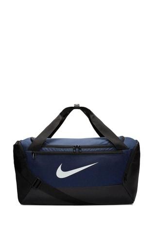 Nike Blue Brasilia Small Training Duffle Bag