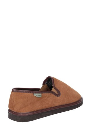 Cotswold Tan Barton Lightweight Classic Slippers