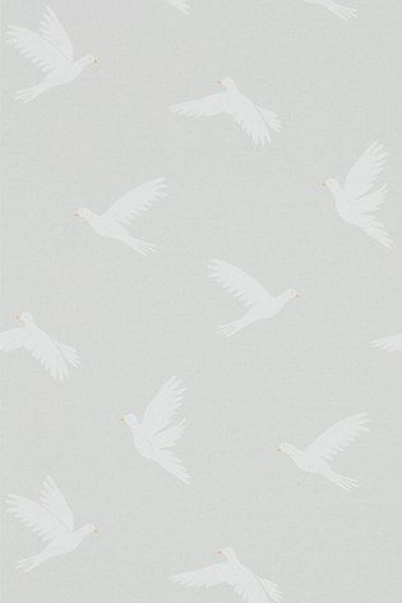 Sanderson Home Grey Paper Doves Wallpaper