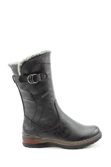 Heavenly Feet Bramble Black Casual Mid-Calf Boots