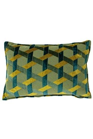 Delano Geo Jacquard Cushion by Riva Home