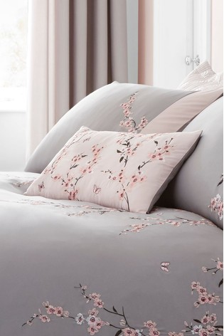 Embroidered Blossom Cushion by Catherine Lansfield