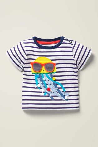 Boden Navy Lift-The-Flap T-Shirt