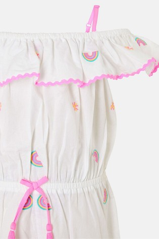 Angels By Accessorize White Rainbow Playsuit