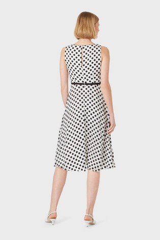 Hobbs White Adeline Dress