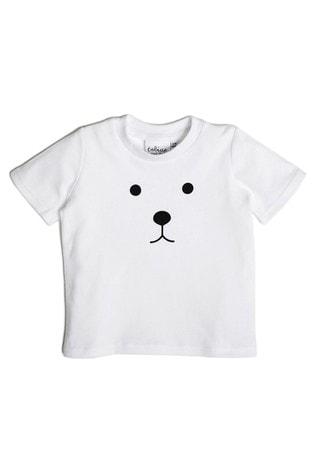 Tobias & The Bear White Bear Organic Cotton T-Shirt