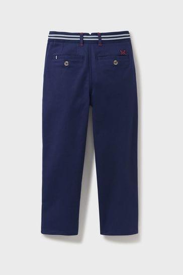 Crew Clothing Company Blue Slim Chino Trousers