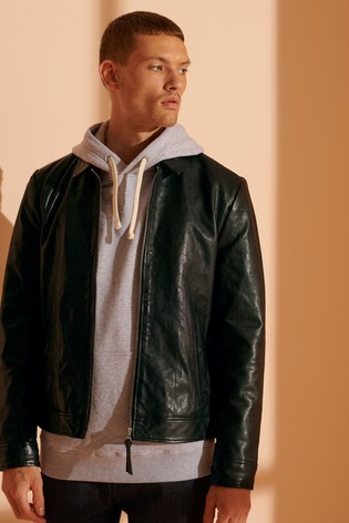 Superdry Indie Coach Leather Jacket