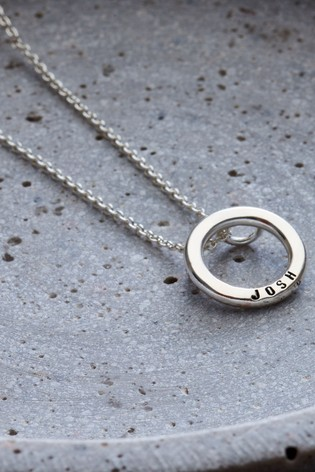 Personalised Small Hoop Necklace by Posh Totty Designs
