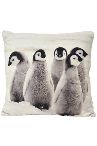 Sherpa Penguins Cushion by Riva Home
