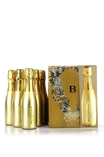 Bottega Mini Gold Prosecco 6 Bottle Gift Set by Le Bon Vin