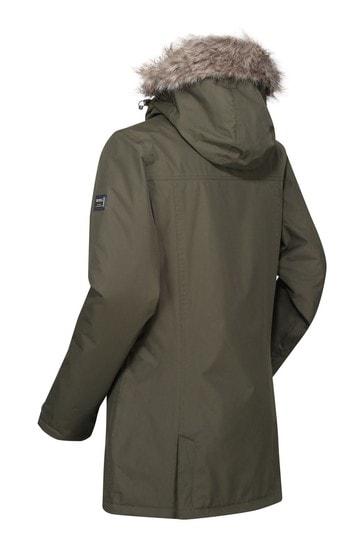 Regatta Green Myla Waterproof Jacket