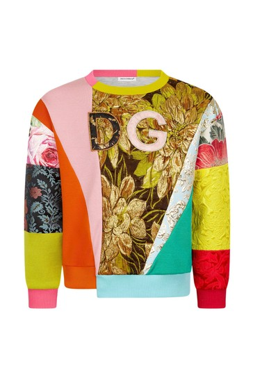 Girls Multicolour Cotton Sweat Top
