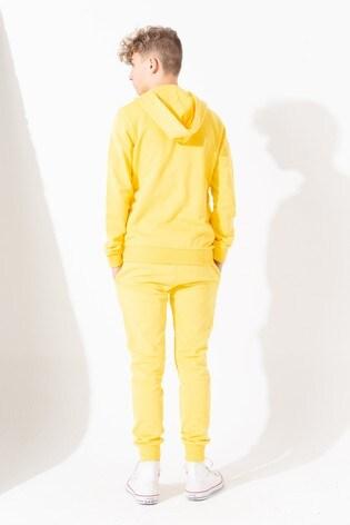 Hype. Yellow Mini Script Kids Zip Through Hoody