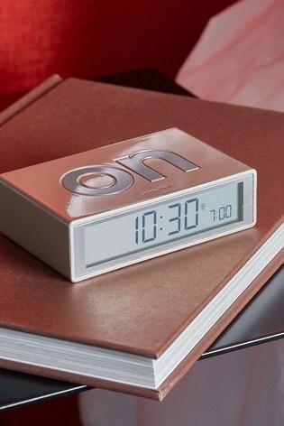 Lexon Flip Glossy Alarm Clock