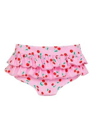 Sunuva Pink Cherries Frill Nappy Pants