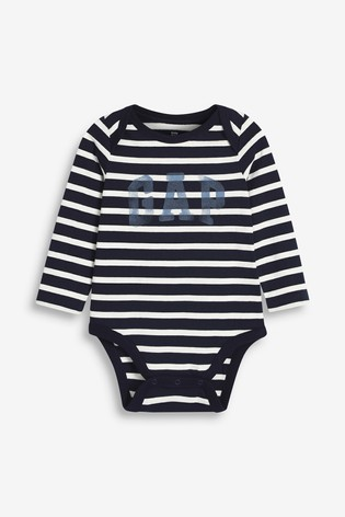 Gap Baby Striped Logo Bodysuit
