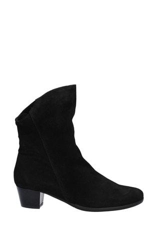 Riva Black Armadillo Slip-On Boots