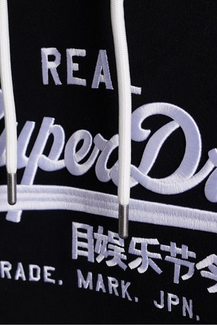 Superdry Vintage Logo Brushed Embroidered Hoodie