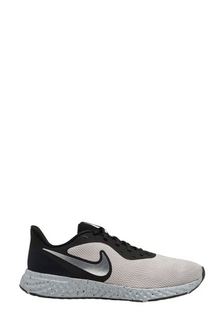 Nike Run Black/Grey Revolution 5 Trainers