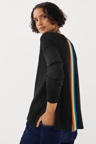 Mix/Madeleine Thompson Open Back Rainbow Jumper