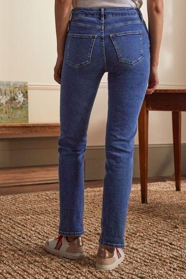 Boden Blue Slim Straight Jeans