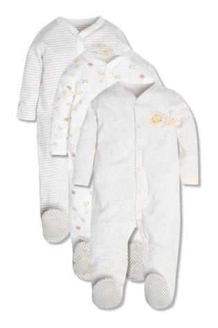 M&Co Animal Printed Sleepsuits 3 Pack